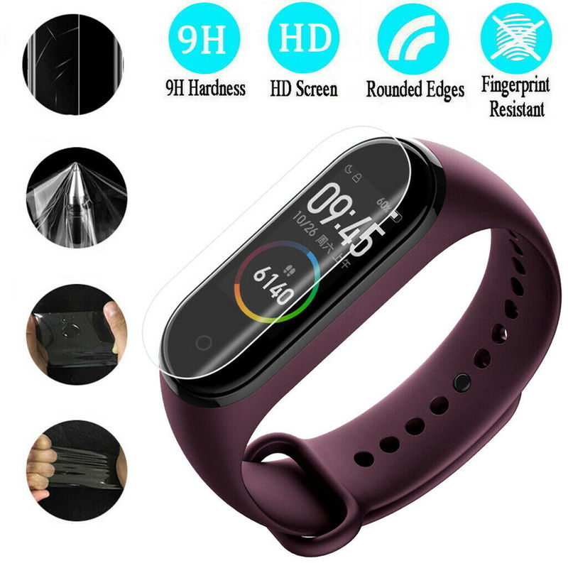 5Pcs Soft TPU Hydrogel Watch Film for Xiaomi Mi Band 4 Screen Protector Protective Film Smart Watch Wristband Xiaomi Bracelet(China)