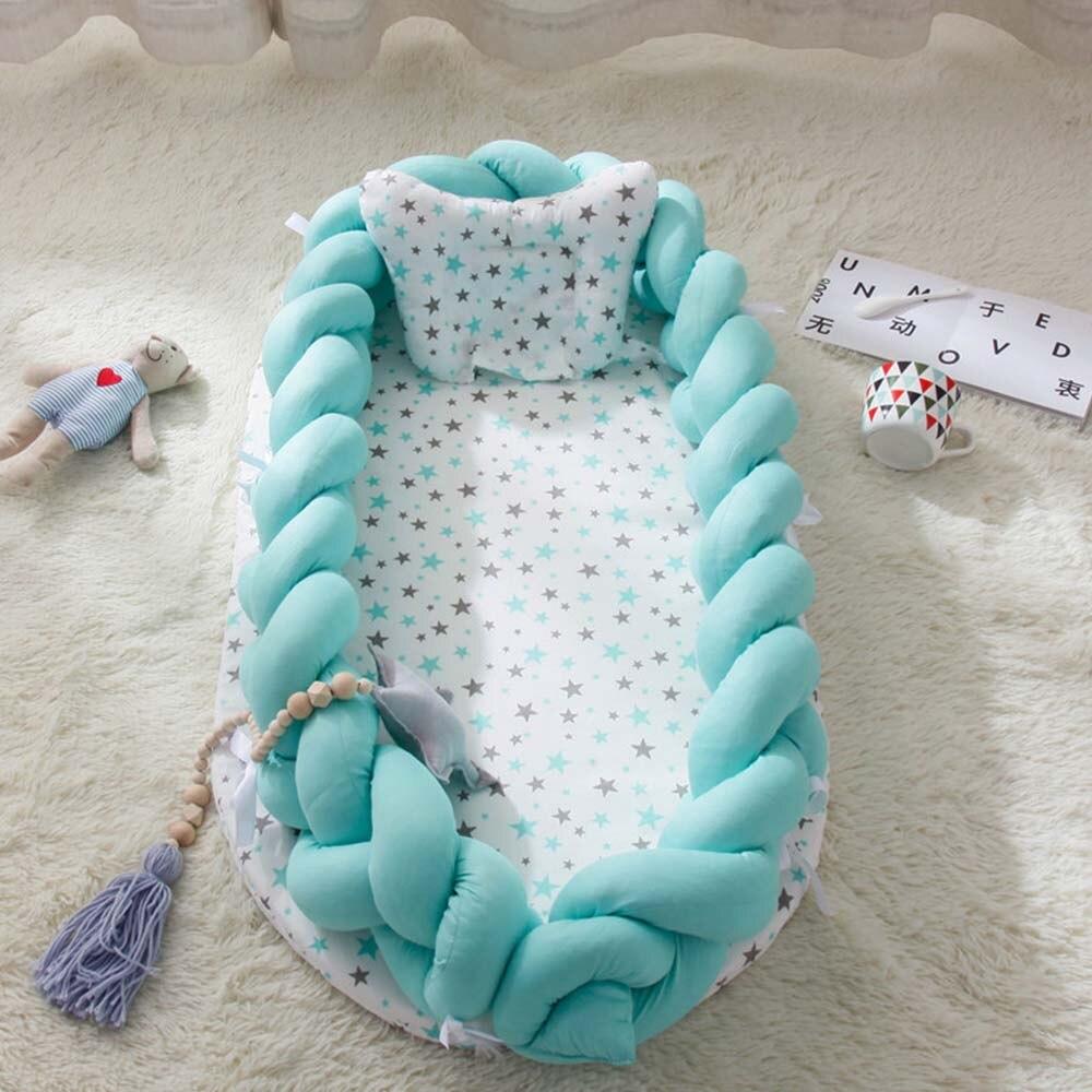 Lit bionique portatif multifonctionnel enfant en bas âge coton berceau bébé couffin pare-chocs pliable dormeur Babynest matelas 0-2Y nouveau chaud