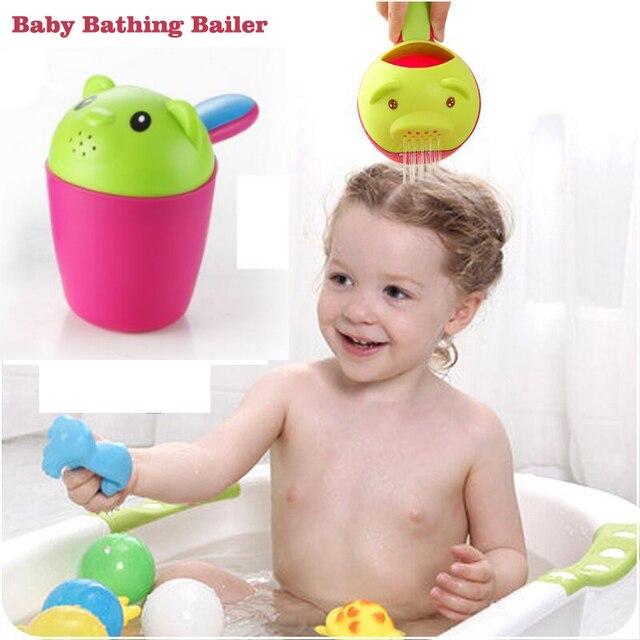 Neue Anzug Kopf Form Baby Bad Tassen Shampoo Tasse Kinder Baden Lenzventil Dusche