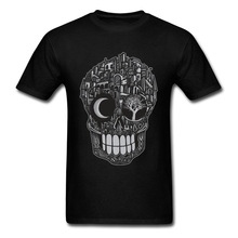 Super Discount Awesome T-Shirt City of Death Skull Youth Tops T Shirts Summer Cool Tshirt 3D Print Full Cotton Fashion Tees