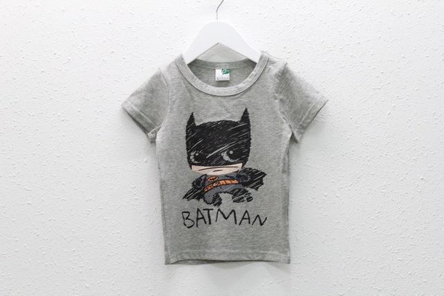 Anos 2016 verão dos desenhos animados crianças meninos crianças batman crianças roupas de bebê roupas meninas t-shirt