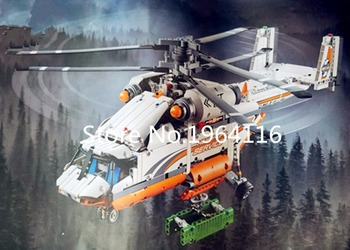 New 20002 Technic series the Motorized Heavy Lift Helicopter model Building Blocks Compatible 42052 Classic toys for children helicopter rotor