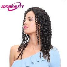 Addbeauty бразильский странный вьющиеся волосы девственницы длинные волосы РСТ (ПП) 10%-20% Человеческие волосы Weave Связки Natural Цвет для салона