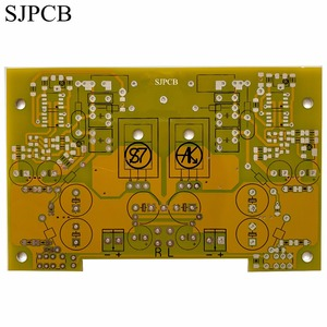 SJPCB Yellow Solder Mask 1OZ Fr4 Printed Wire Board Plated Via Holes from China No Extra Charge For Color Fast Delivery(China)