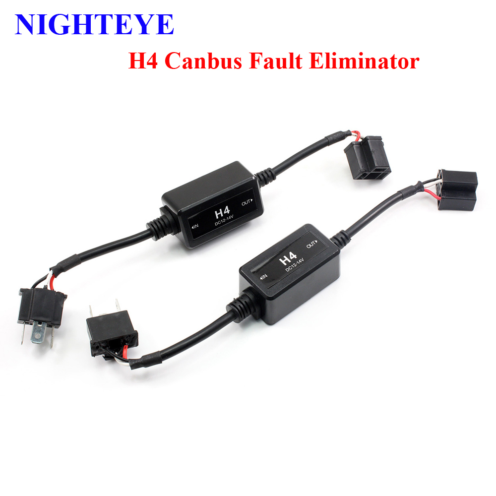 medium resolution of 1 pair h4 h7 led light canbus wiring harness adapter led headlamps warning canceller automotive led h7 canbus fault eliminator
