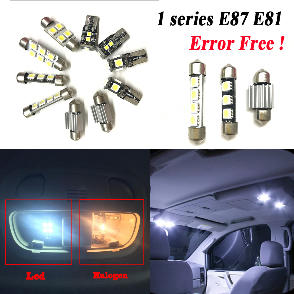 BMW 1 SERIES 2003-2011 2x T10 9SMD LED WHITE BULBS NUMBER PLATE FREE ERROR