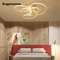 Dragonscence Modern ceiling lights led Remote Large High power Ceiling lamp fixture for Commercial Plaza living room bedroom
