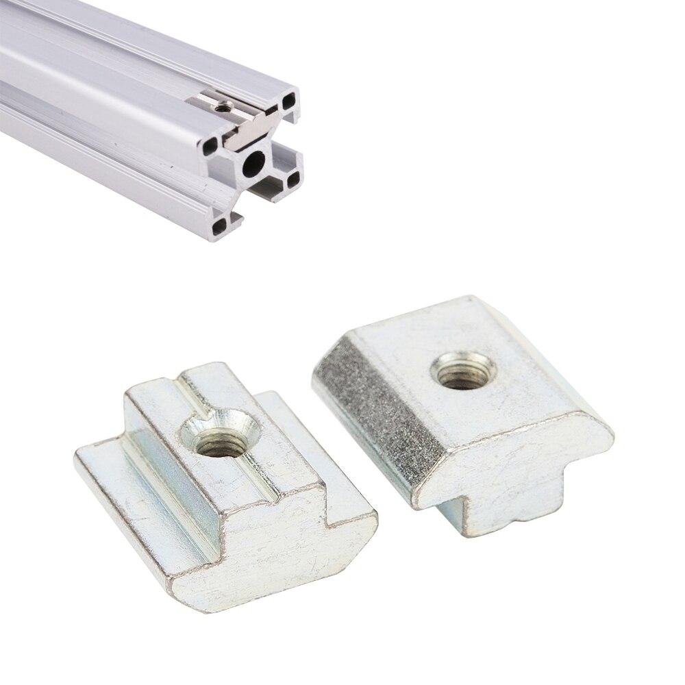 100pcs 50pcs 20pcs 10pcs Zinc Plate Coated M3 M4 M5 M6 M8 T Block T Sliding Nut for Aluminum Profile 2020 3030 4040 4545