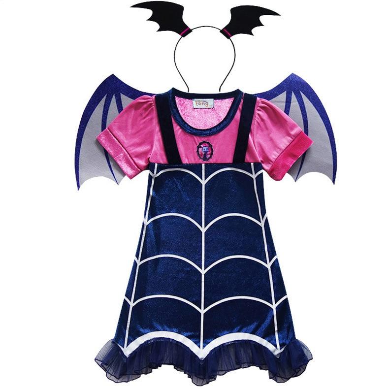 706136e26a53b Disfraz Vampirina Costume For Girl Dress Halloween Child Mask ...