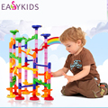 105pcs DIY Pipeline Marble Race Run Maze Balls Type Track Puzzles Maze Learning Education Toys Kids IQ Trainer Game For Kids