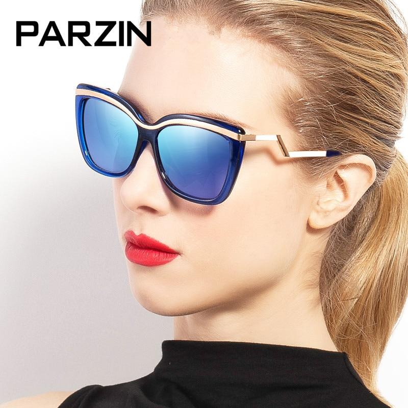 PARZIN Women Sunglasses Polarized Oversized UV 400 Women's Sun Glasses Female Driving Glasses With Case Black 9532