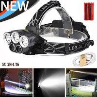 50000LM 5x XM-L T6 LED Şarj Edilebilir USB Far Başkanı Işık Zumlanabilir Açık Spor Bisiklet Bisiklet Aksesuarları Ağustos 29