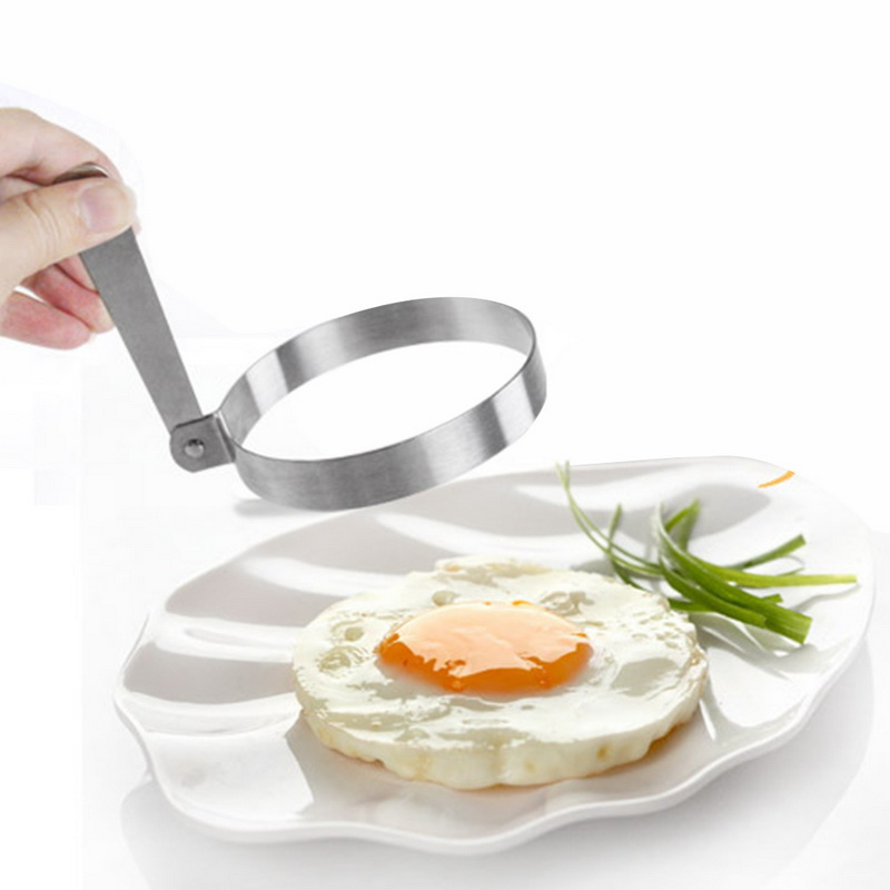Hoomall 1PC Stainless Steel Round Pancake Eggs Rings Mold Omelette Egg Frying Mold Mini Egg Tool Creative Kitchen Accessories