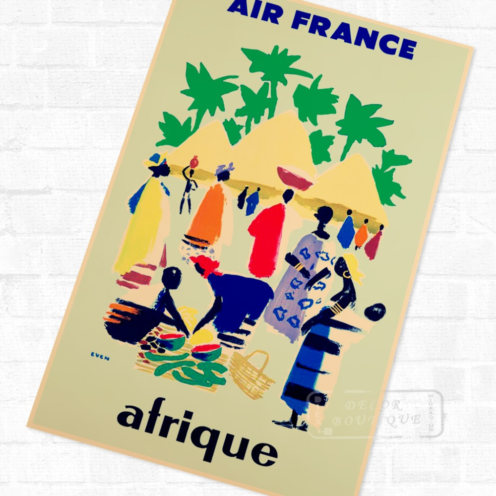 Africa by Air African Propaganda Vintage Travel Poster Retro Canvas ...