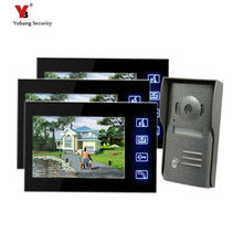 Yobang Security Freeship Door Monitor Video Intercom Door Entry Intercom Systems Home Door Camera With 7inch LCD Touch Screen