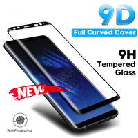 Película de vidrio templado para Samsung Galaxy Note 8 9 S9 S8 Plus S7 Edge 9D protector de pantalla curvado completo para Samsung A6 A8 Plus 2018|Protectores de pantalla de teléfono| |  -