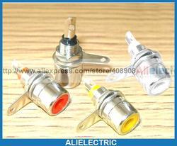 200 sztuk 4 Kolor Gniazdo Jack AV RCA Wtyk Panelowy DIY|mount|mounting socket  -
