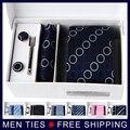 De alta qualidade coreano Silk laço dos homens define Formal Narrow gravata define com caixa de presente marca dos homens xadrez Stripe 7 cm