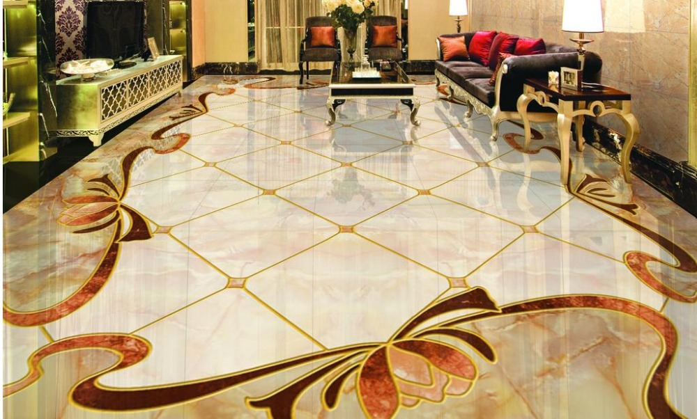 Custom 3d Floor Simple Carpet Parquet 3d Window Wallpaper