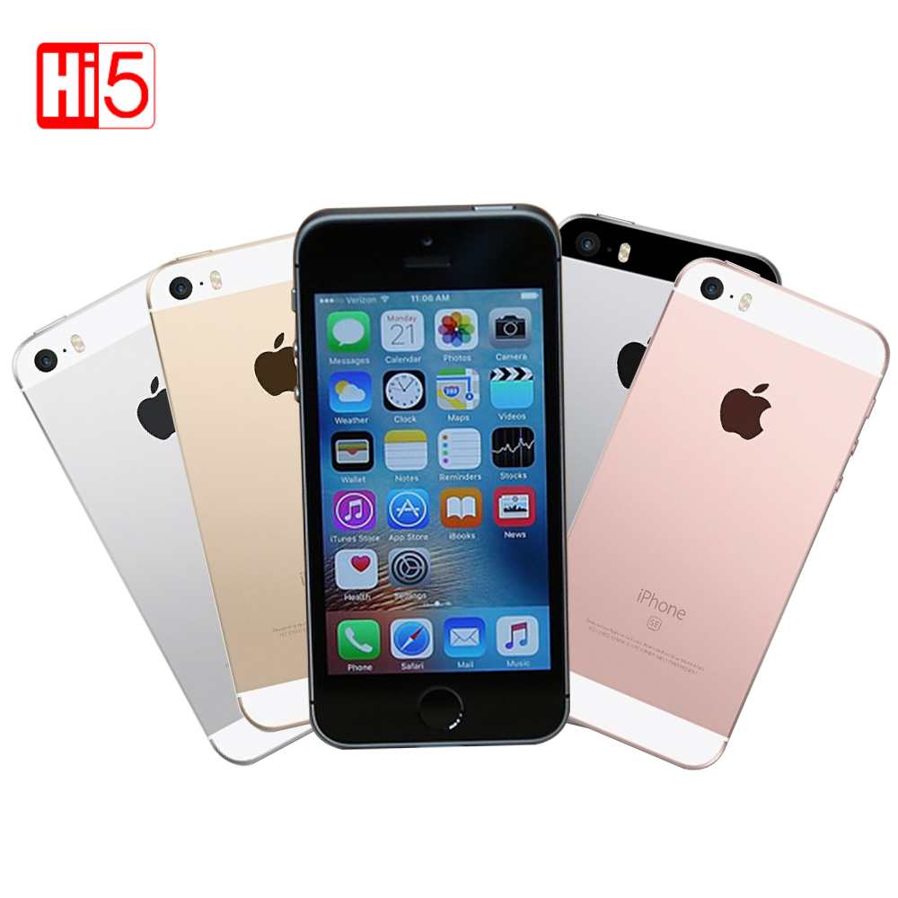 unlocked apple iphone se 16g rom lte phone 12 0 mp camera dual core fingerprint 4 0 smartphone. Black Bedroom Furniture Sets. Home Design Ideas