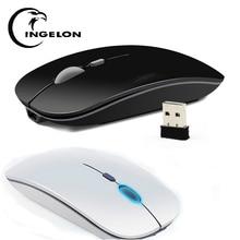 Ingelon беспроводная мышь перезаряжаемая тонкая оптическая 2,4 г тишина игровой геймер souris sans fil pour дропшиппинг pc портативная мышь