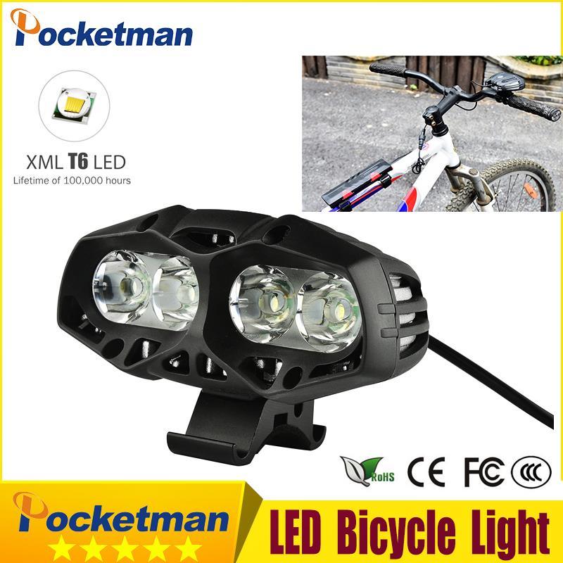 купить 5000 Lumen USB Rechargeable Bicycle Light MTB Bike Light Zoom Flashlight Waterproof Built-in Battery Bicycle Accessories z50 по цене 504.54 рублей