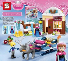 SY372 Ice Kingdom Realm Kristoff/Princess Anna Sled Minifigures Building Toys Compatible with Legoe 41066