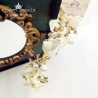 Coréen mariée Dentelle À La Main Arc Bandeau Diadème en cristal doux bande de cheveux studio de mariage bijoux accessoires de mariage