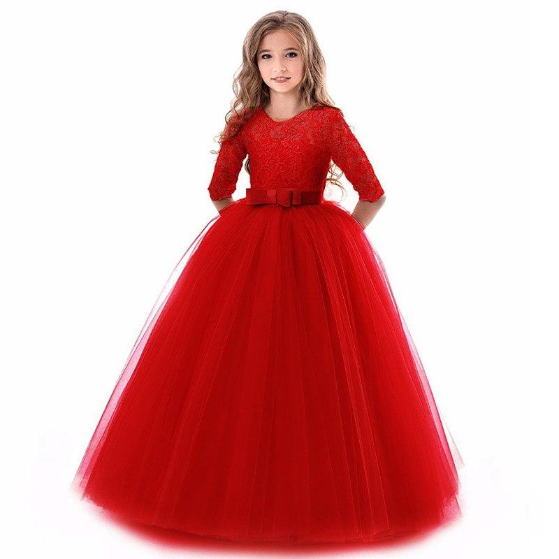 Ball gown for kids high-end elegance children party   dress     girl   wedding   dress   long sleeve   girl   first communion princess   dress