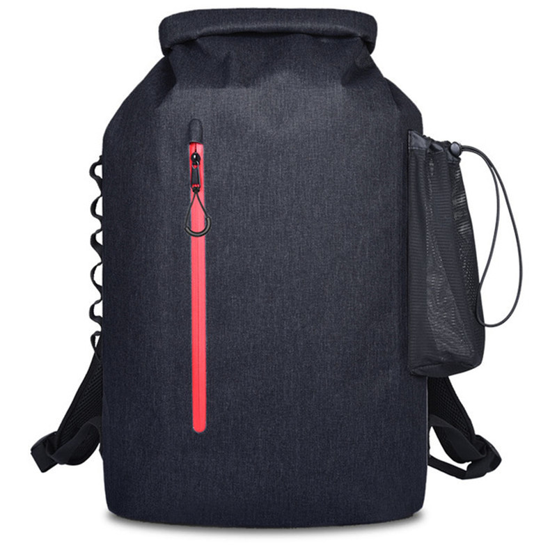 20L Outdoor River Trekking Bag Dry Bag Double Shoulder Straps Water Pack Swimming Waterproof Bag for Drifting Kayak Backpack