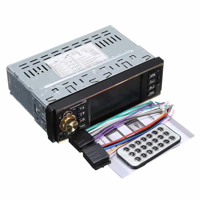 شاشة LCD بلوتوث 12 فولت 4.1 بوصة ستيريو FM AM راديو السيارة راديو السيارة مسجل كاسيت USB TF بطاقة AUX مشغل MP3 لوحة فاشية