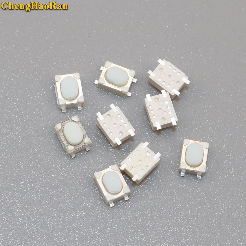 ChengHaoRan 50PCS SMD 4Pin 3X4X2.5MM White Tactile Tact Push Button Micro Switch Momentary 3*4*2.5