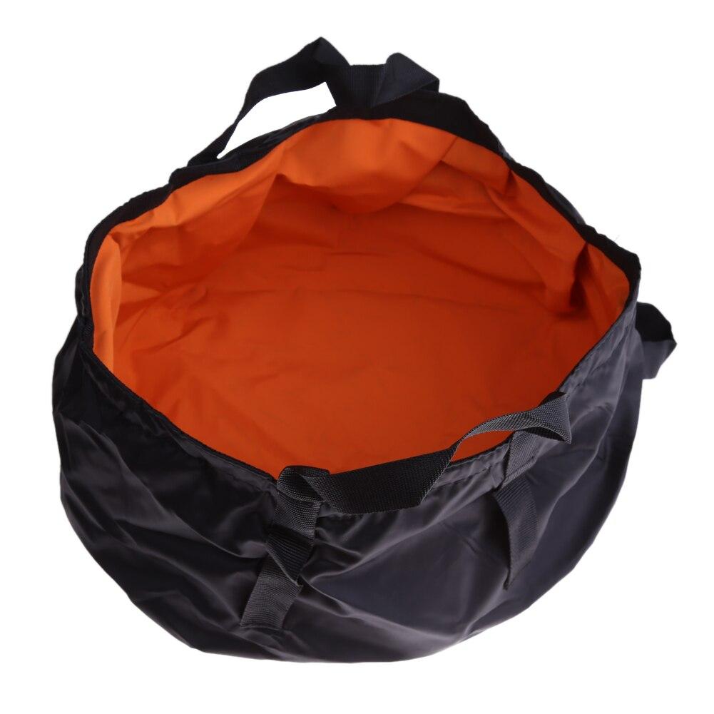 8.5L Water Bucket Bag Portable Outdoor Travel Foldable Folding Camping Washbasin Basin Bucket Bowl Sink Washing Bag Random Color