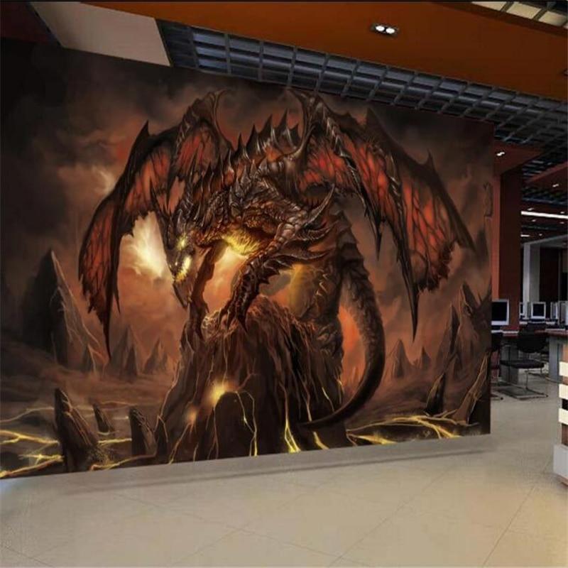 Cool 3d Art Wallpaper Beibehang Games World Warcraft Dragon Wallpaper Custom