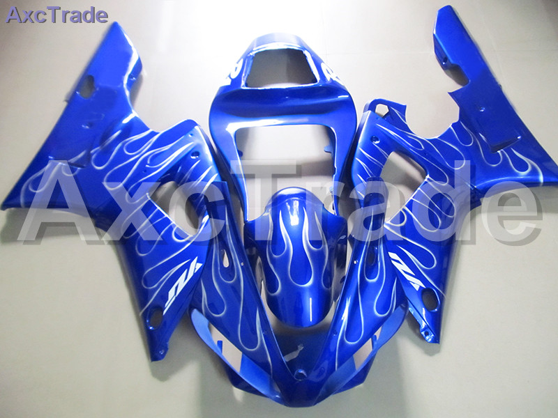 Blue Moto Fairing Kit For Yamaha YZF1000 YZF 1000 R1 YZF-R1 2000 2001 00 01 Fairings Custom Made Motorcycle Bodywork Injection hot sale moto parts fairing kit for kawasaki ninja zx9r 2000 2001 black flames silver bodywork fairings set zx9r 00 01 ot20