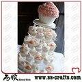 5-уровневая круглая акриловая подставка для кекса  5-уровневая подставка для свадебного кекса
