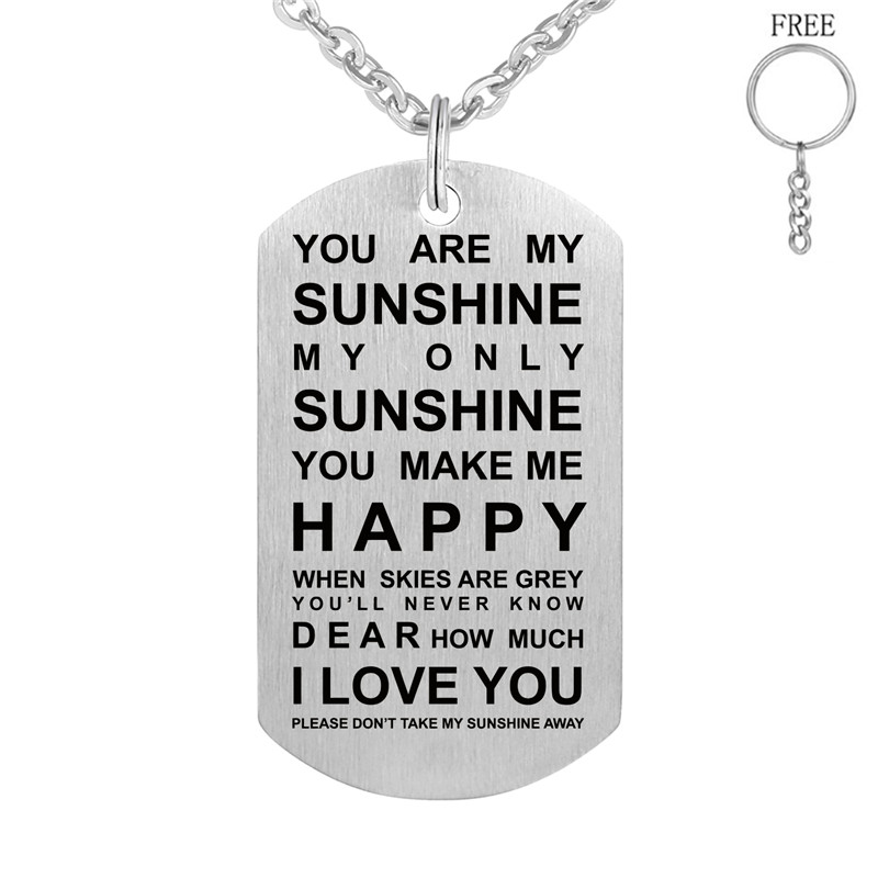 2e4cc8a23621f US $4.99 |Personalized ID Family Necklace Custom Engraved Dog Tag Pendant  Stainless steel Customized Men Jewelry free chainring-in Pendant Necklaces  ...