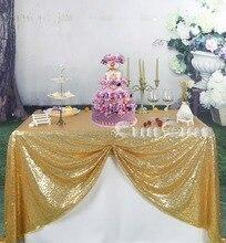 50inchx80inch (150cmX200cm) Gold Sequin Tablecloth Square Tablecloth  Rectangle Tablecloth Party Tablecloth(China)