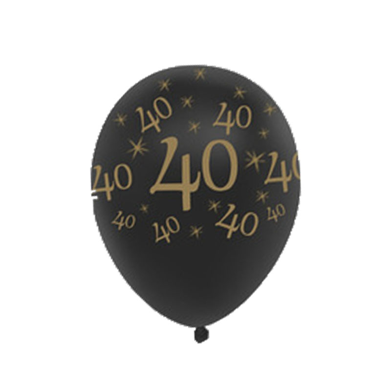Tronzo 10Pcs 12Inch Happy Birthday Balloons Gold Black 30th 40th 50th Party Decoration DIY Wedding Anniversary Decor Holiday Presents