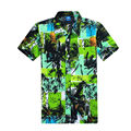 Short Seeve Shirt Mens Camisa Social Floral Print Hawaiian Shirt Men Brand Designer Clothes High Quality Chemise Homme