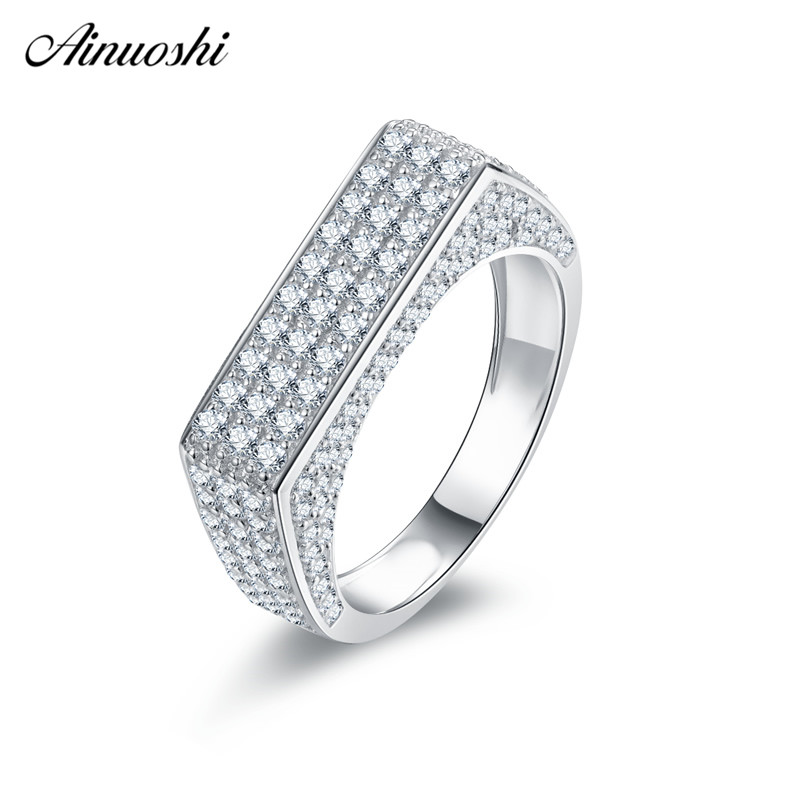 Ainuoshi Trendy 925 Sterling Silver Wedding Rings Engagement