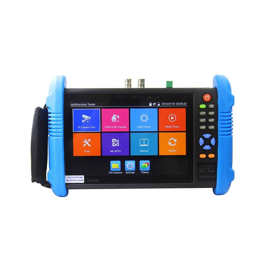 Новый 7 дюймов 5 в 1 H.265 4 К HD IP CCTV тестер монитор аналогового AHD TVI CVI Камера тестер 8MP 1080 P 5MP ONVIF WI-FI POE 12 В