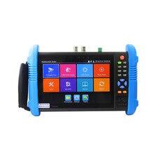 Nueva 7 Pulgadas Cinco En Uno 4 K H.265 IP HD CCTV Tester Monitor Analog AHD Cámara CVI TVI3.0 Probador 1080 P 5MP $ NUMBER MP WIFI ONVIF POE 12 V