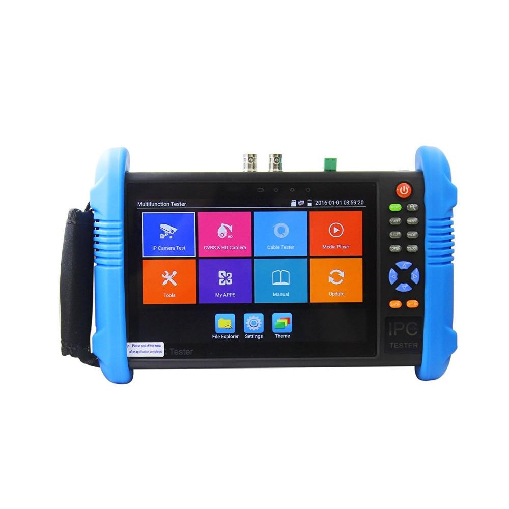 Nuovo 7 Pollice 5 In 1 H.265 4 K IP HD CCTV Tester Monitor analogico AHD TVI CVI Camera Tester 8MP 1080 P 5MP ONVIF WIFI POE 12 V