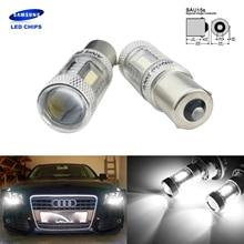 ANGRONG 2x BAU15s RY10W SAMSUNG светодиодный лампы боковые сигнал поворота Парковка свет лампы белый
