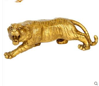 US $68 0 |wholesale factory modern office sculptures religious statues  Copper tiger decoration Small home brass tiger crafts-in Statues &  Sculptures
