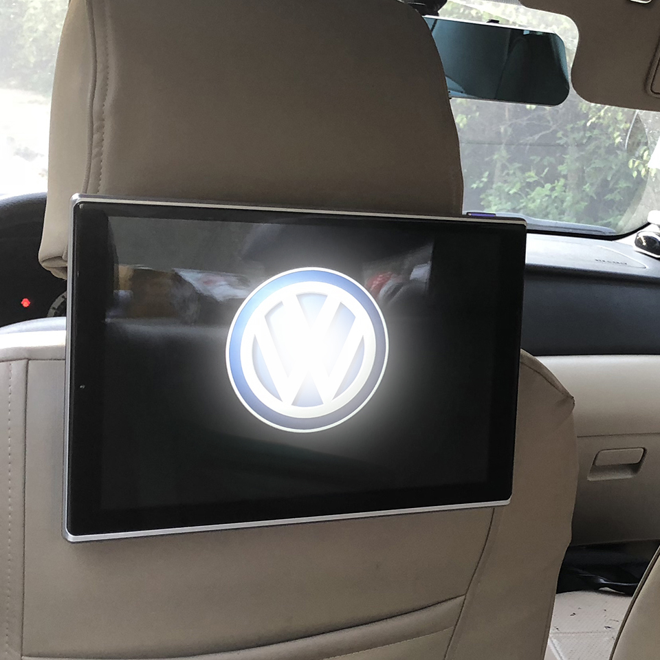 2PCS Latest TV Screen For Volkwagen Android 6.0 Operation System 11.8 Inch Super Big Movie Level Car Headrest Monitor