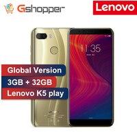 Глобальная прошивка поддержка lenovo K5 играть, 3 Гб оперативной памяти, 32 Гб встроенной памяти, Face ID 4G мобильный телефон 5,7 дюймов Snapdragon MSM8937 Octa ...