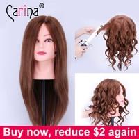 100 Human Hair Mannequin Heads 18 Black Hair Professional Styling Mannequin Head Hairdresser Practice Maniqui Head