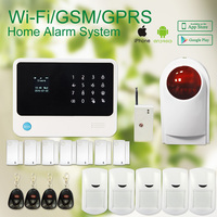 G90B Security Wireless Wifi Gsm Alarm System With GPRS IOS Android APP Burglar Alarm System